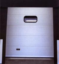 Industrial sectional doors and residential metal