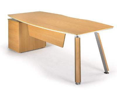 Rectangular table with 2 feet and buck