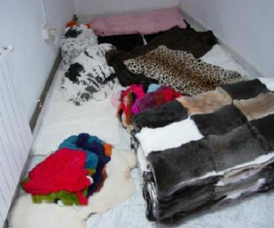Farm animal fur trade.