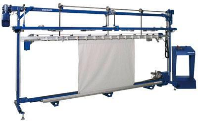 Machines for making curtains