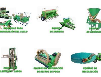 Floor repair machines, lifting and loading equipment, crushing equipment pruning, harvesting equipment