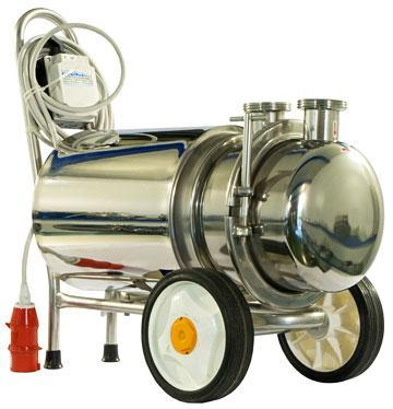Sanitary Centrifugal Pump in stainless steel, designed to ensure maximum hygiene and prevent contamination of the liquid decanted