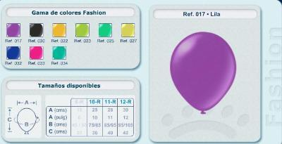 Balloons in fashionable colours
