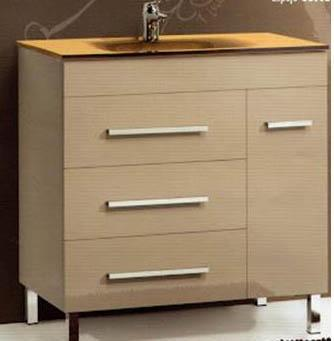Bathroom cabinet lacquered
