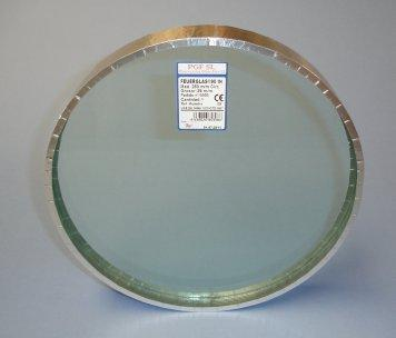 Multiple transparent laminated glass, composed by ten sheets of float glass.