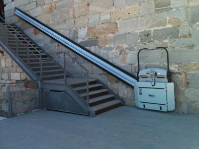 Straight stairlift platforms