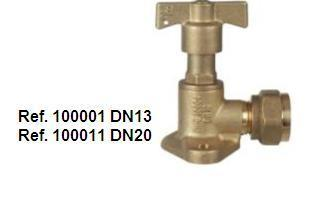 FLANGED INLET VALVE FIXED DRIVE MANUAL DISPOSITO backstop