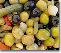 Olives, pickles and capers