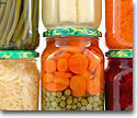 Canned vegetables and fruits