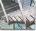 Metallic ladders, rails, handrails and bars