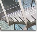 Metallic ladders, rails, handrails and bars