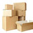 Cardboard containers and packing products