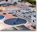 Water treatment plants and de-salting plants