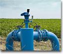 Irrigation pumps for farming technology