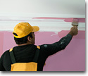 Painting building entryways and interiors