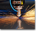 Laser cutting and folding of metal