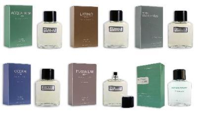 Perfumes. Platinium servies for men
