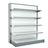 Metallic shelves